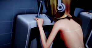 鏡音リン エロMMD 3D動画 おっぱい